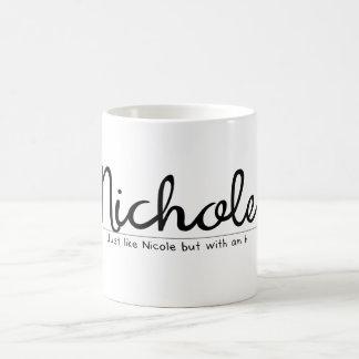Nichole with an h funny name coffee mug