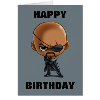Nick Fury Stylized Art Card