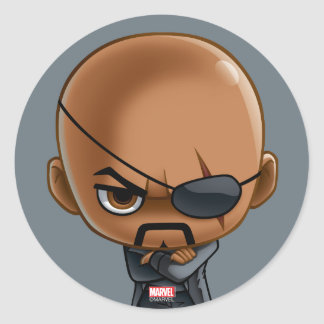 Nick Fury Stylized Art Classic Round Sticker