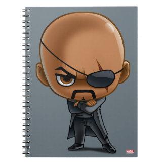 Nick Fury Stylized Art Spiral Notebooks