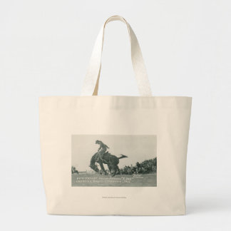 Nick Knight riding T. Joe at Cheyenne Frotier Days Large Tote Bag