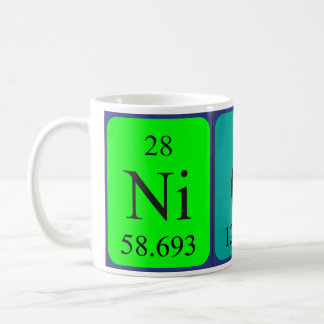 Nick periodic table name mug