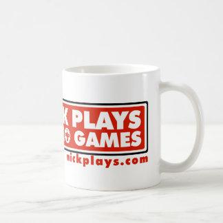 Nick Plays Video Games and Drinks Coffee Mug