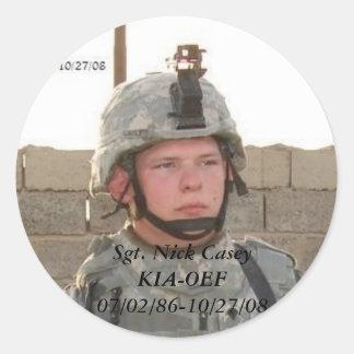 Nick Round Sticker