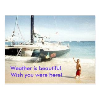 NickCatamaranWaikiki, Weather is beautiful.Wish... Postcard