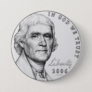 Nickel 7.5 Cm Round Badge