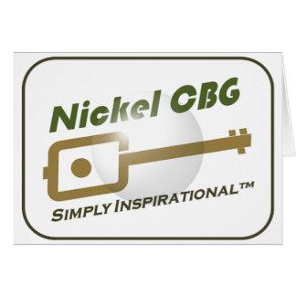 Nickel CBG Bubble Design Greeting Card