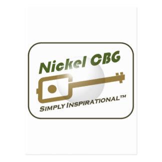 Nickel CBG Bubble Design Postcard