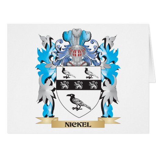 Nickel Coat of Arms - Family Crest Greeting Card