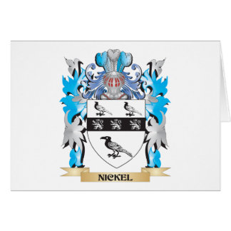 Nickel Coat of Arms - Family Crest Card