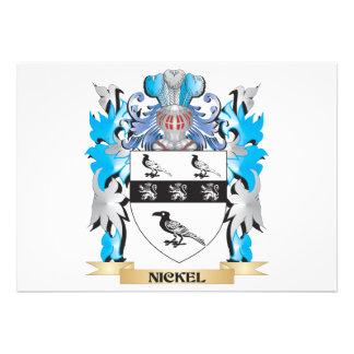 Nickel Coat of Arms - Family Crest Custom Announcement