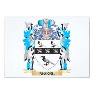Nickel Coat of Arms - Family Crest Custom Announcement