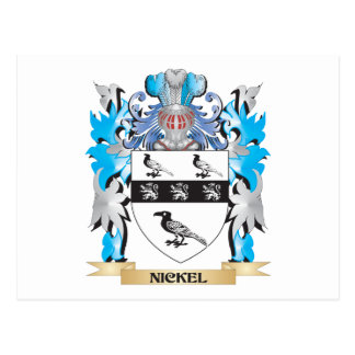 Nickel Coat of Arms - Family Crest Postcard
