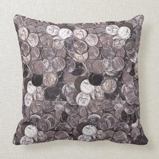 Nickel Coins Graphic Cushion
