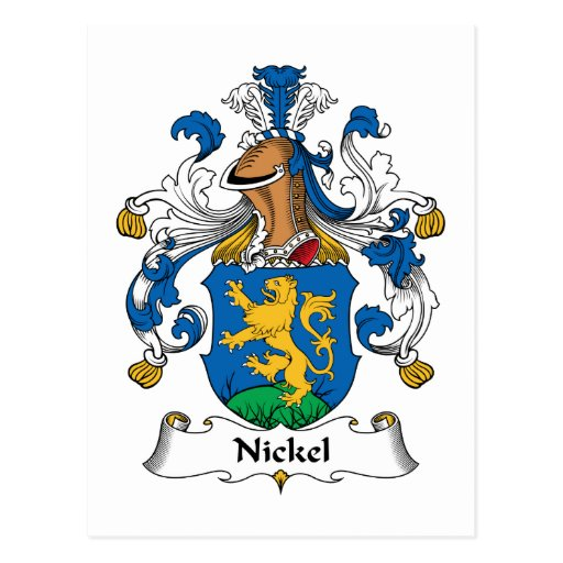 Nickel Family Crest Post Cards