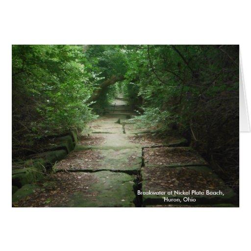 Nickel Plate Beach path, Huron, Ohio, notecards Cards