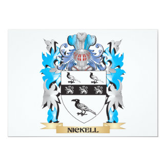 Nickell Coat of Arms - Family Crest 13 Cm X 18 Cm Invitation Card