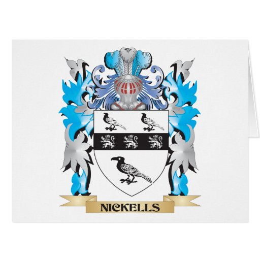 Nickells Coat of Arms - Family Crest Cards