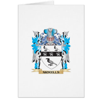 Nickells Coat of Arms - Family Crest Card