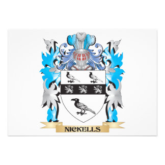 Nickells Coat of Arms - Family Crest Invites