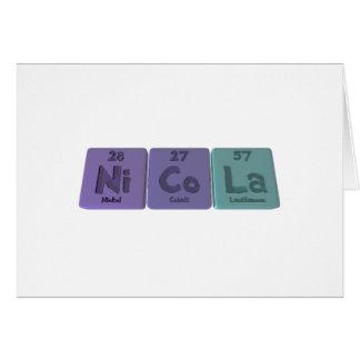 Nicola  as Nickel Cobalt Lanthanum Card