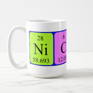 Nicola periodic table name mug