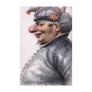Nicolas Lagneau Grotesque Man Wearing a Turban Canvas Print