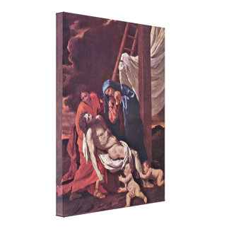 Nicolas Poussin - Cross Stretched Canvas Print