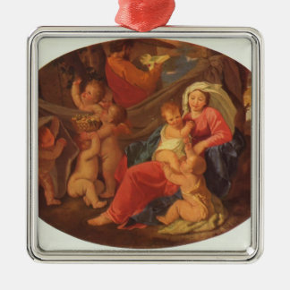 Nicolas Poussin- Holy Family with Angels Christmas Tree Ornament