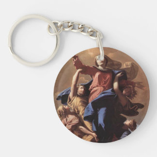 Nicolas Poussin- The Assumption of the Virgin Keychain
