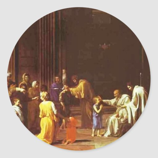 Nicolas Poussin- The Confirmation Round Sticker