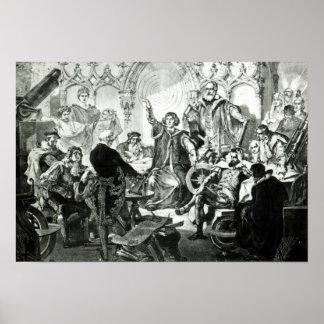 Nicolaus Copernicus  Explaining his Theory Poster