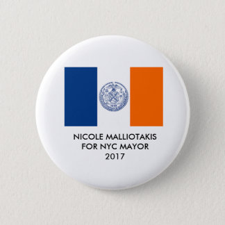 Nicole Malliotakis for New York City Mayor Button