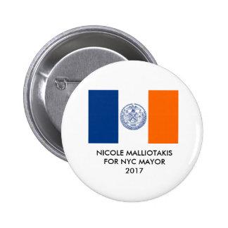 Nicole Malliotakis for New York City Mayor Button
