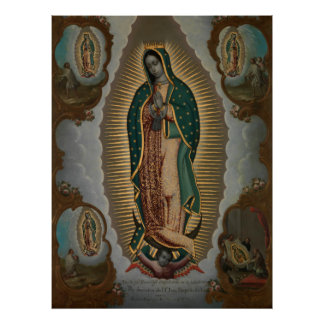 Nicols Enrquez The Virgin of Guadalupe Poster