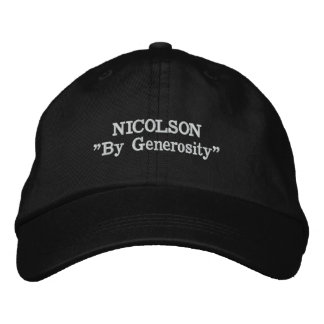 Nicolson Clan Motto Embroidered Hat
