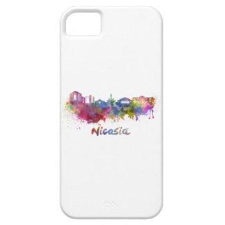 Nicosia skyline in watercolor barely there iPhone 5 case