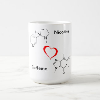 Nicotine and Caffeine LOVE Mug