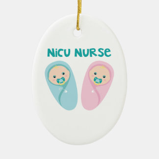 NICU Nurse Ceramic Oval Decoration