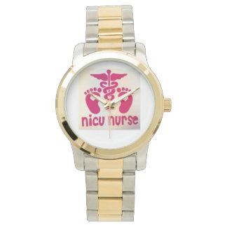 NICU Nurse's Watch in Two-Tone Metal