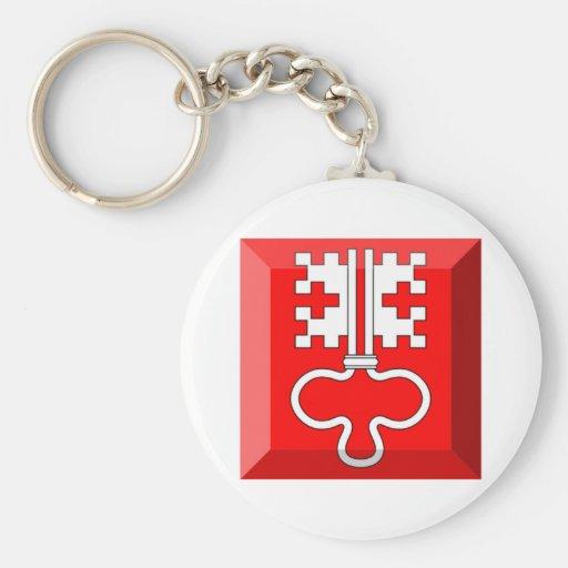 Nidwalden Flag Gem Keychain
