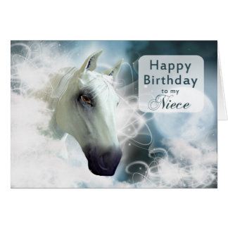 Niece birthday, Arabian spirit Horse Greeting Card