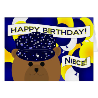Niece - Happy Birthday Navy Active Duty! Greeting Card