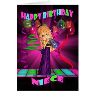 Niece Happy Birthday with Cute little Cutie Pie ba Card