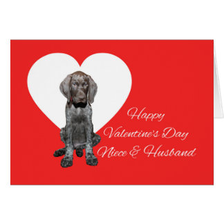 Niece & Husband Glossy Grizzly Valentine Card