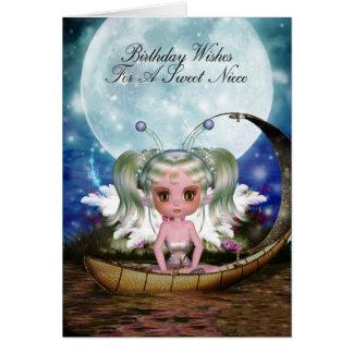 Niece Magical Water Fairy Birthday Card
