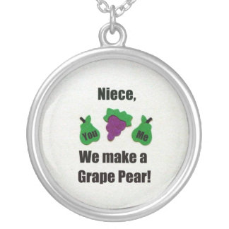 Niece, we make a grape pear! silver plated necklace
