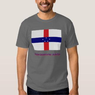 Niederländische Antillen Flagge mit Namen Tshirts