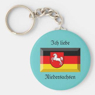 Niedersachsen Flag Gem Key Chain