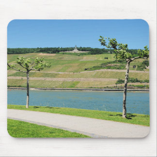 Niederwalddenkmal with coarse home on the Rhine Mouse Pad